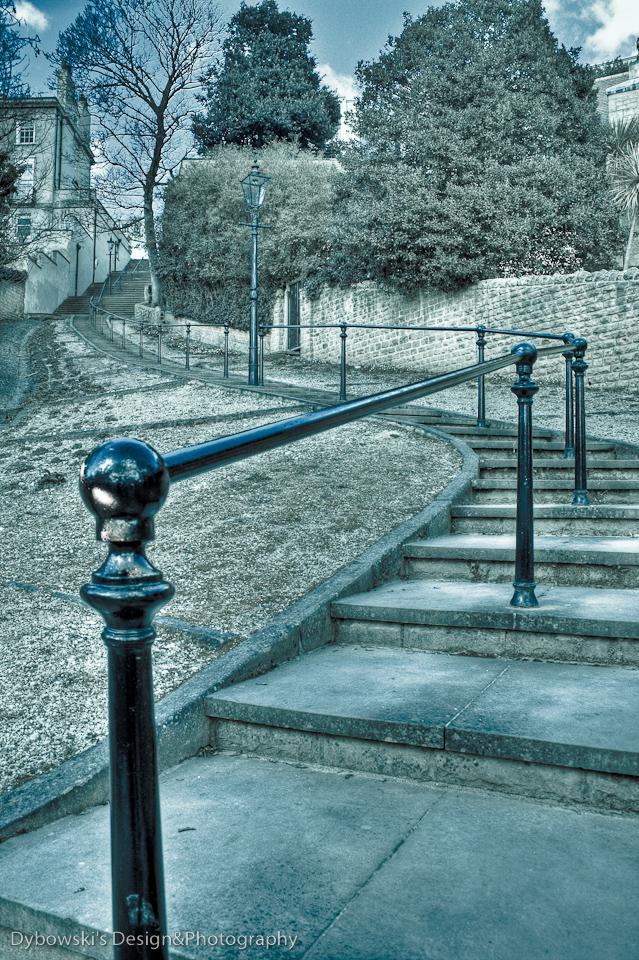 Schody w Nottingham, okolice zamku 'złego szeryfa'