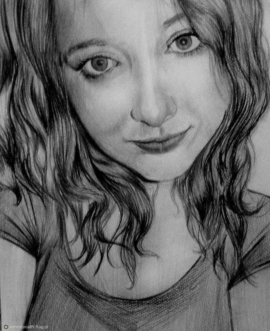 Tag Rysunek Twarz Portret Dziewczyna Ołówek Archiwum Fotobloga