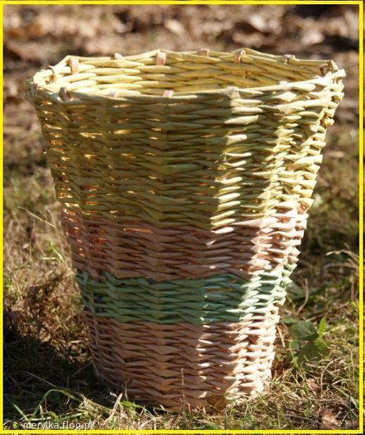 koszyk z wikliny papierowej ŚMIETNIK