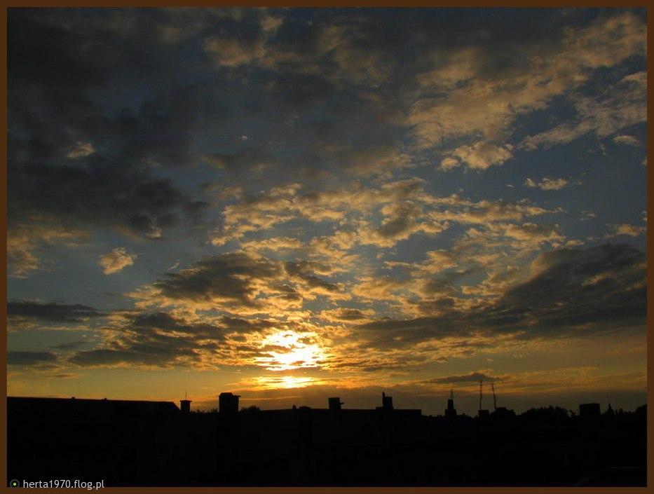 Dzień Dobry Wschód Z Mojego Okna Na Powitanie Dnia